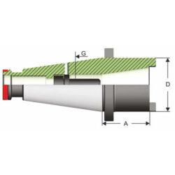 ISO 50 / ISO 40 Átalakító adapter