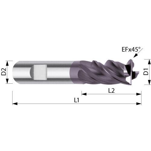 VHM-Hochleistungsfräser ø 16,0 mm